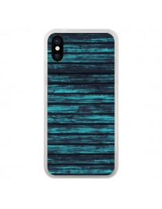 Coque iPhone X et XS Blue Moon Wood Bois - Maximilian San