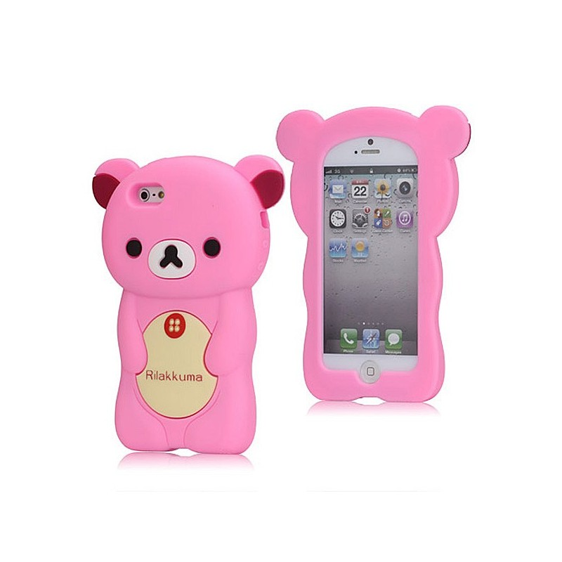 coque iphone 5 silicone ourson