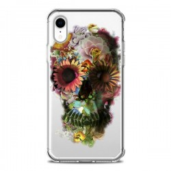 Coque iPhone XR Skull Flower Tête de Mort Transparente souple - Ali Gulec