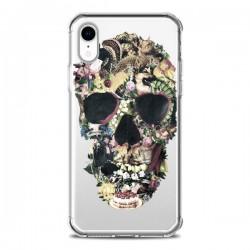 Coque iPhone XR Skull Vintage Tête de Mort Transparente souple - Ali Gulec