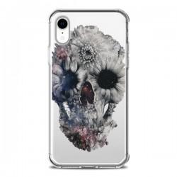 Coque iPhone XR Floral Skull Tête de Mort Transparente souple - Ali Gulec