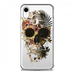 Coque iPhone XR Garden Skull Tête de Mort Transparente souple - Ali Gulec