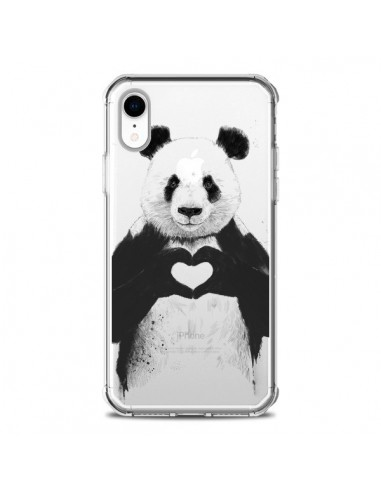 Coque iPhone XR Panda All You Need Is...