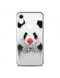 Coque iPhone XR Clown Panda Transparente souple - Balazs Solti