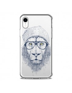 Coque iPhone XR Cool Lion Swag Lunettes Transparente souple - Balazs Solti