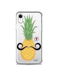 Coque iPhone XR Ananas Moustache Transparente souple - Chapo