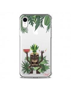Coque iPhone XR Tiki Thailande Jungle Bois Transparente souple - Chapo