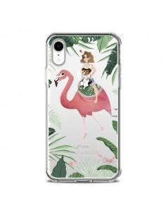 Coque iPhone XR Lolo Love Flamant Rose Chien Transparente souple - Chapo