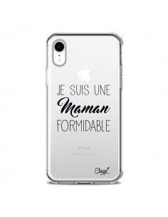 Coque iPhone XR Je suis une Maman Formidable Transparente souple - Chapo