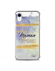 Coque iPhone XR Je suis une Maman Formidable Violet Transparente souple - Chapo