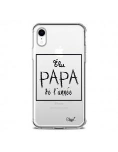 Coque iPhone XR Elu Papa de l'Année Transparente souple - Chapo