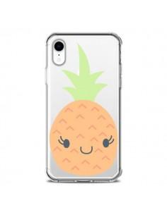 Coque iPhone XR Ananas Pineapple Fruit Transparente souple - Claudia Ramos