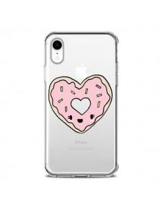 Coque iPhone XR Donuts Heart Coeur Rose Transparente souple - Claudia Ramos