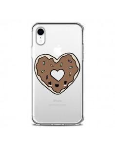 Coque iPhone XR Donuts Heart Coeur Chocolat Transparente souple - Claudia Ramos