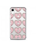 Coque iPhone XR Donuts Heart Coeur Rose Pink Transparente souple - Claudia Ramos