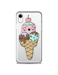 Coque iPhone XR Ice Cream Glace Summer Ete Cerise Transparente souple - Claudia Ramos