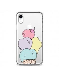 Coque iPhone XR Ice Cream Glace Summer Ete Coeur Transparente souple - Claudia Ramos