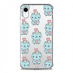 Coque iPhone XR Hamster Love Amour Transparente souple - Claudia Ramos