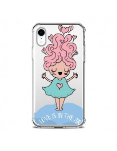 Coque iPhone XR Love Is In The Air Fillette Transparente souple - Claudia Ramos