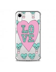 Coque iPhone XR Love Nuage Montgolfier Transparente souple - Claudia Ramos