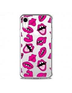 Coque iPhone XR Lèvres Lips Bouche Kiss Transparente souple - Claudia Ramos