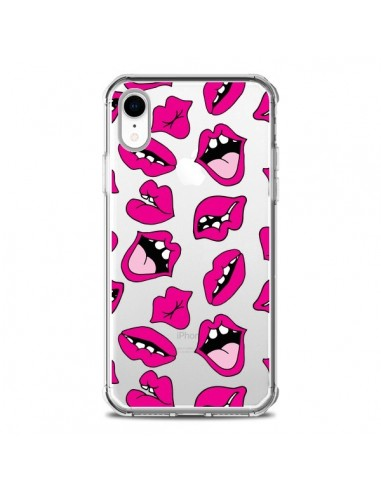 Coque iPhone XR Lèvres Lips Bouche Kiss Transparente souple - Claudia Ramos