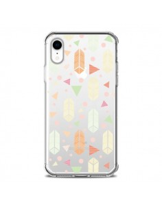 Coque iPhone XR Arrow Fleche Azteque Transparente souple - Claudia Ramos