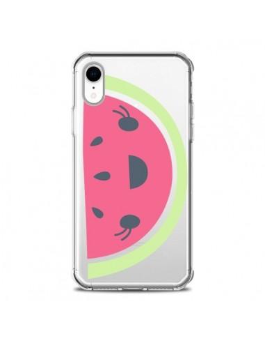Coque iPhone XR Pasteque Watermelon Fruit Transparente souple - Claudia Ramos