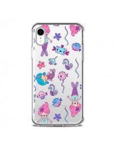 Coque iPhone XR Mermaid Petite Sirene Ocean Transparente souple - Claudia Ramos