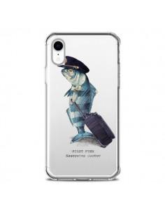 Coque iPhone XR Pilot Fish Poisson Pilote Transparente souple - Eric Fan