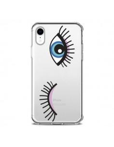 Coque iPhone XR Eyes Oeil Yeux Bleus Transparente souple - Léa Clément