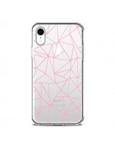 Coque iPhone XR Lignes Triangle Rose Transparente souple - Project M