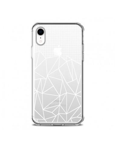 Coque iPhone XR Lignes Grilles Grid...