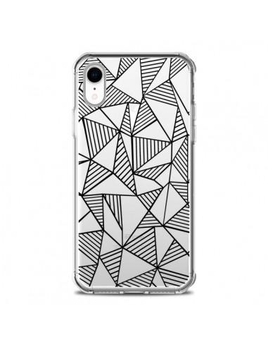 Coque iPhone XR Lignes Grilles...
