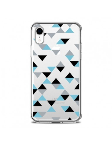 Coque iPhone XR Triangles Ice Blue...