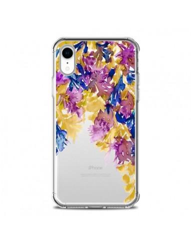 Coque iPhone XR Cascade Florale...