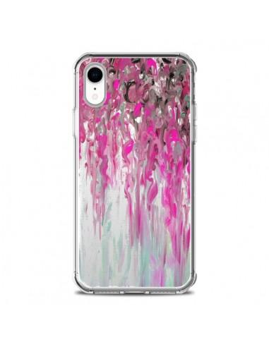 Coque iPhone XR Tempête Rose...