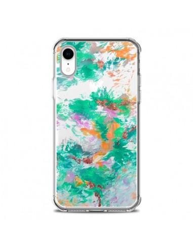 Coque iPhone XR Mermaid Sirene Fleur...