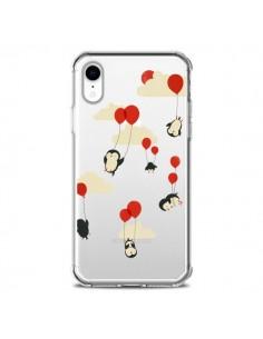 Coque iPhone XR Pingouin Ciel Ballons Transparente souple - Jay Fleck