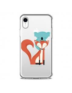 Coque iPhone XR Renard et Koala Love Transparente souple - Jay Fleck