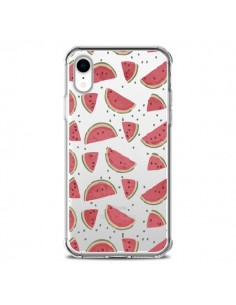 Coque iPhone XR Pasteques Watermelon Fruit Transparente souple - Dricia Do