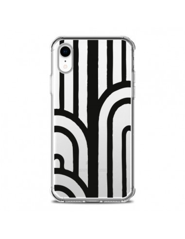Coque iPhone XR Geometric Noir Transparente souple - Dricia Do