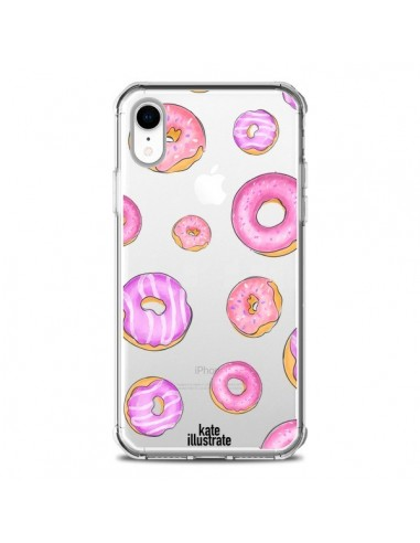 Coque iPhone XR Pink Donuts Rose...