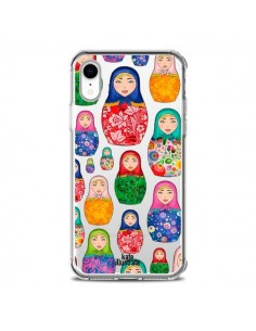 Coque iPhone XR Matryoshka Dolls Poupées Russes Transparente souple - kateillustrate