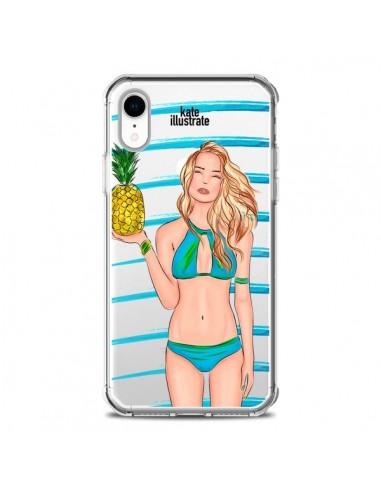 Coque iPhone XR Malibu Ananas Plage...