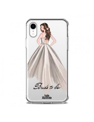 Coque iPhone XR Bride To Be Mariée Mariage Transparente souple - kateillustrate