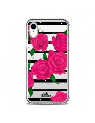 Coque iPhone XR Roses Rose Fleurs...