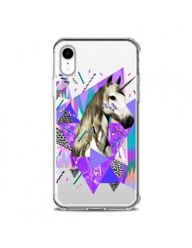 Coque iPhone XR Licorne Unicorn Azteque Transparente souple - Kris Tate