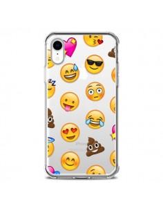 Coque iPhone XR Emoticone Emoji Transparente souple - Laetitia