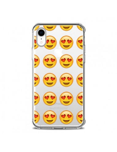 Coque iPhone XR Love Amoureux Smiley...